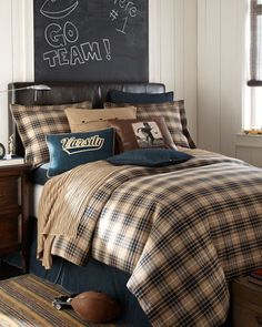 plaid...for teen room
