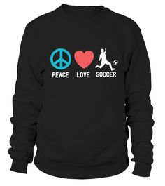 Peace Love Soccer Soccer Players Soccer Mom T Shirts #soccer #soccermom #mom #shirt #tshirt #tee #gift #perfectgift #birthday #Christmas #motherday