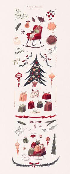 Christmas illustrations 2017 Christmas illustrations 2017 on Behance Christmas Poster, Christmas Mood, Noel Christmas, Christmas Design, Christmas And New Year, Xmas, Abstract Illustration, Winter Illustration, Christmas Illustration Design