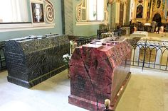 Tombs of Alexander II and his wife made of semi-precious stones at the Peter and Paul Cathedral