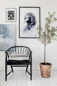 Dining chair - Norsu (Mrs Mighetto 'Billie Rose' watercolour