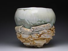 Bird's Nest series, reversible bowl, view 1.  Functions as a bowl and when flipped over it becomes a sculpture. $750.00 Pop Up Art, Diy Workshop, Ceramic Artists, Art Market, Art Pieces, Ceramics, Sculpture, Crystals, Nest