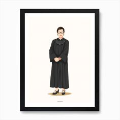 Ruth Bader Ginsburg Art Print by Nour Tohme - Fy