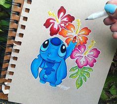Pin by madison tipton on beautiful dibujos de disney, dibujos stitch, dibuj Lilo Y Stitch, Cute Stitch, Lilo And Stitch Drawings, Cute Disney Drawings, Cute Drawings, Drawing Disney, Art Drawings Sketches, Tattoo Drawings, Pencil Drawings