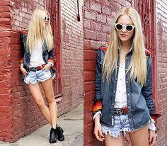True Religion Denim Shirt, One Teaspoon Shorts, One Teaspoon Belt - All the Pretty Horses - Shea Marie