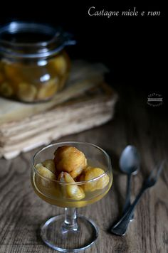 Castagne rum e miele food photography