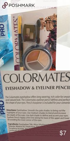 ColorMates eyes makeup Brand new, never used, completed for making up your beautiful eyes Makeup Eyeliner