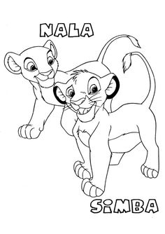Lion King Coloring Page Print Lion King pictures to color at