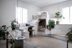 Apartment with a DIY workspace/bedspace gravityhomeblog.com - instagram - pinterest - bloglovin