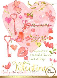 Romantic birds https://www.etsy.com/mx/listing/493448046/corazones-de-san-valentin-dibujos #valentinespng #lovebirds #birdsandhearts #diycards #friendship #lover