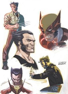 """"""" In this interview for Edge of Spider-Verse I mention having briefly spoken with Marvel about possibly doing a Wolverine story. These were the sketches that were. Marvel Comic Character, Comic Book Characters, Marvel Characters, Comic Books Art, Hq Marvel, Marvel Comics Art, Marvel Heroes, Captain Marvel, Wolverine Art"""