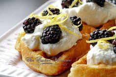 The Kitchen Whisperer Belgian Waffles with Whipped Lemon Ricotta and Blackberries