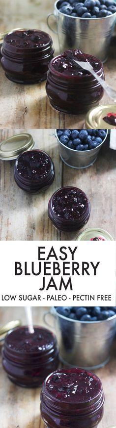 Easy Blueberry Jam {No refined sugar, pectin-free} | Lexi's Clean Kitchen