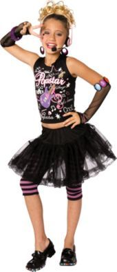 Girls Pop Star Costume