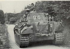 Panther Ausf A coded 96 of Hptm Pfannkuche's II Battalion 33rd Panzer Regiment 9th Panzer Division ; Normandy August 1944