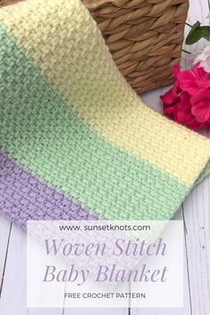 ,crochet blankets, afghans and stuff Easy crochet blanket for baby. Free crochet pattern can be. Crochet Afghans, Crochet Baby Blanket Free Pattern, Crochet Ideas, Free Crochet Blanket Patterns, Baby Afghan Patterns, Crochet Blankets, Stitch Crochet, Knit Or Crochet, Crochet Crafts