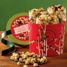 Moose Munch® Gourmet Popcorn is buttery, rich, sweet, and salty. It's the finest caramel corn around. This popcorn gift holds a trio of our most popular flavors: milk chocolate, dark chocolate, and classic caramel. #giftideas #gifts #holidays