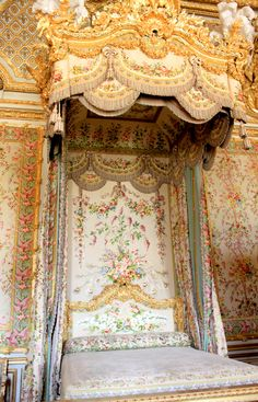 Palace of Versailles Bedroom wall flower tapestry inspiration for Nursery wall painting