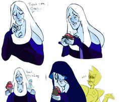 duckbone — now imagine that Greg and Blue Diamond became good friend and she carries him around in her pocket