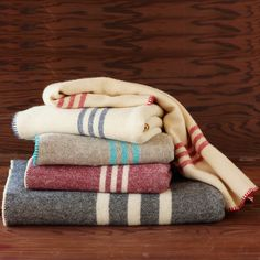 Striped Wool Blanket ~ Branch