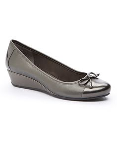 This Pewter Davalyn Leather Pump is perfect! #zulilyfinds