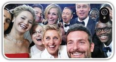 Oscars 2014 Twitter Selfie Cell Phone Case Cover iPhone 4/4S 5/5S Samsung Galaxy S3 S4 Academy Awards Jennifer Lawrence Bradley Cooper $24.99+FREE SHIPPING