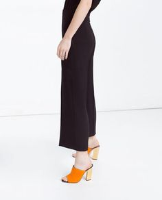 Image 4 of HIGH-WAISTED TROUSERS from Zara