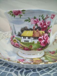 Vintage Royal Albert England Bone China English Cottage Cottage Chic | eBay ~ Would love.