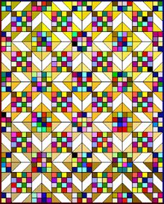 Scrappy Sunny Lanes pattern ~ use scraps from last years projects and make a new. - Scrappy Sunny Lanes pattern ~ use scraps from last years projects and make a new quilt for each yea - Colchas Quilting, Quilting Projects, Quilting Designs, Quilting Ideas, Machine Quilting, Scrap Quilt, Scrappy Quilt Patterns, Scrap Fabric, 16 Patch Quilt