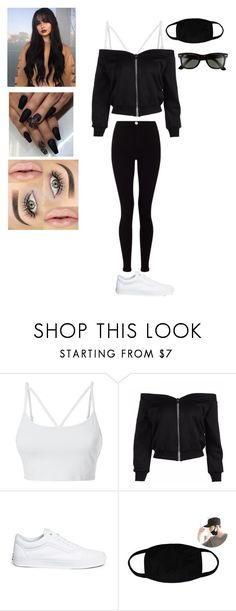 """""""Untitled #116"""" by mydevilsangel on Polyvore featuring Lipsy, LE3NO, Vans and Ray-Ban"""