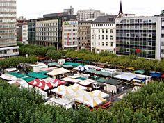 Konstablerwache farmers market, Frankfurt, Germany