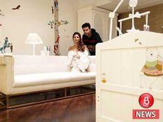 Gauri Khan designs a beautiful nursery for Karan Johar's twins! Living Area, Living Spaces, Karan Johar, Interior Decorating, Interior Design, Nursery Design, Bollywood Celebrities, Beautiful Space, Home And Living