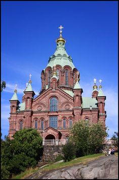This photo from Southern Finland, South is titled 'Uspenski Cathedral'. Finland Destinations, Travel Around The World, Around The Worlds, Visit Helsinki, Baltic Cruise, Scandinavian Countries, Baroque Architecture, Cathedral Church, Old Churches