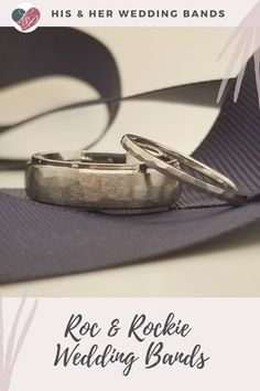 His Hers Wedding Bands Roc Rockie In 2020 Wedding Bands White Gold Band