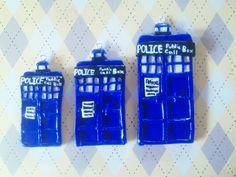 Polymer clay Doctor Who Tardis's
