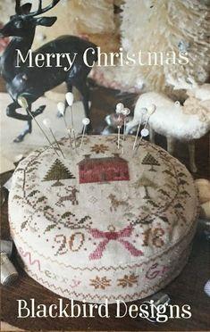 Christmas Cross, Merry Christmas, Xmas, Needle Book, Needle And Thread, Blackbird Designs, Pincushions, Barrels, Cross Stitch Patterns