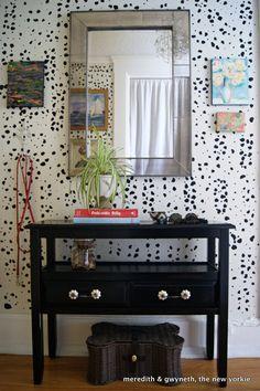 """DIY Dalmatian Print """"Wallpaper"""""""