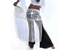 Long Fringe Hand Beaded Belt Belly Dance • Sharifwear