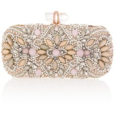 Marchesa Lily Pastel Crystal Clutch ($2,982) ❤ liked on Polyvore featuring bags, handbags, clutches, accessories, purses, bolsas, marchesa, lily handbags, chain strap handbag and lily purses
