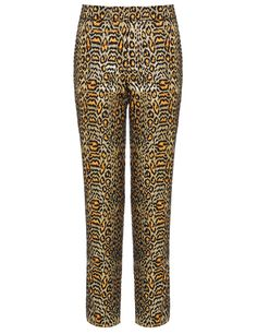Gold Jacquard Leopard Trousers by  Peter Som @Avenue 32
