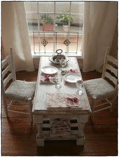 499 besten dollhouse dining room bilder auf pinterest doll house rh pinterest com