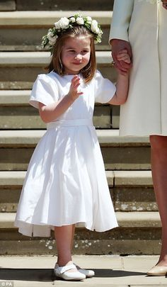 Princess Charlotte after the wedding of Prince Harry and Meghan Markle at Windsor Castle
