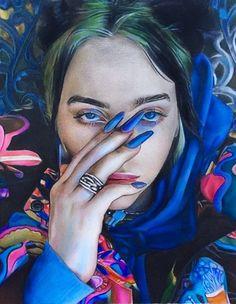 Billie pencil drawing - Vicky Xu