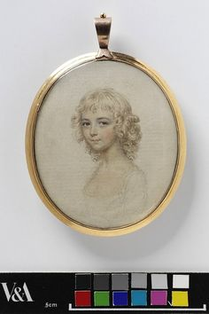 Portrait of a young girl    Object:  Miniature    Place of origin:  England, Britain (probably, painted)    Date:  late 1790s (painted)    Artist/Maker:  John Smart, born 1742 - died 1811 (artist)