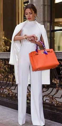 35 Amazing Classy Outfit Ideas For Women - Alles über Damenmode White Outfits For Women, All White Outfit, Clothes For Women, Ladies Clothes, Street Style Outfits, Fashion Outfits, Womens Fashion, Fashion 2018, Ladies Fashion