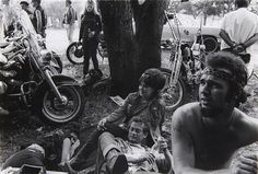 DANNY LYON  Outlaw Camp, Muskegon, Michigan from the Bikeriders, 1966  Gelatin silver print.