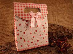 5 Stück Geschenkbox Faltschachtel 'Red Blossums von SackundPack, €2.90