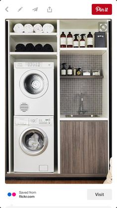 Mobile lavamderia  cabinet for upstairs bath