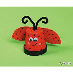 ladybug made out of terra cotta pot