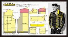 diagrama de modelagem de roupas sociais masculinas - Pesquisa Google
